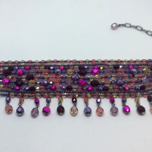 Joan Rivers Multi Strand Colorful Crystal Bracelet